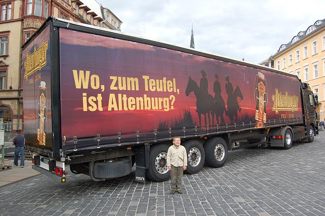Kie, ĉe la diablo, estas Altenburg?