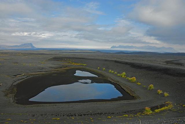 Lava fields beside the highway to Villingaholt