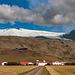 Skógar and the Eyjafjallajökull volcano