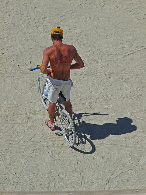 Cyclist on the Playa (1066)