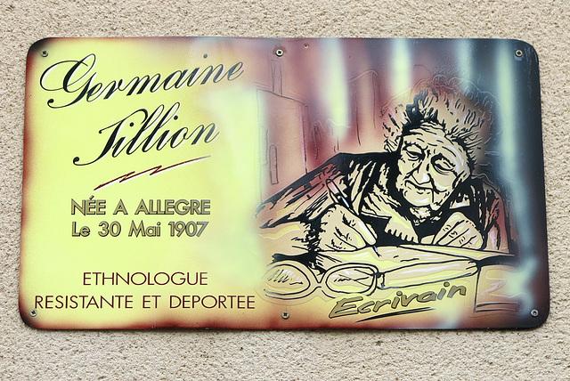 Germaine Tillion, figure d'Allègre en France