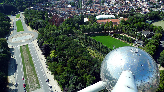 Brussels Atomium view from 3
