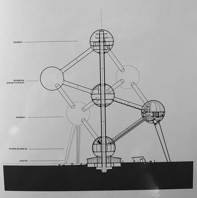 Brussels Atomium Schematic 1