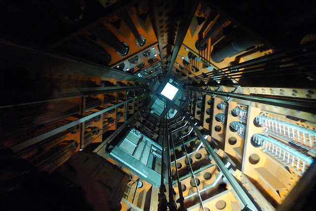 Brussels Atomium Lift Shaft 1