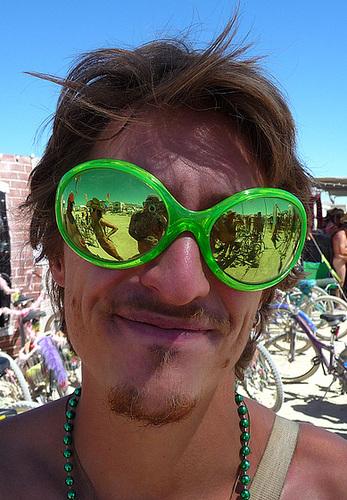 World Naked Bike Ride - Unicyclist (0744)