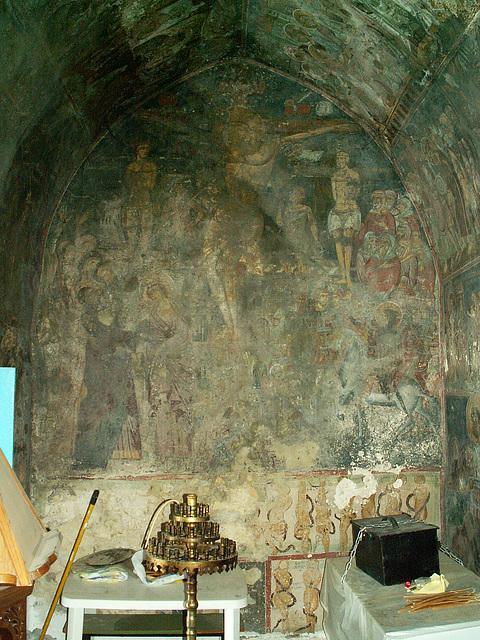 Inside a chapel