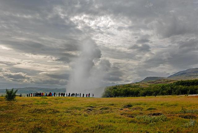 The Geysir in full eruption