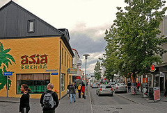 In the center of Reykjavik