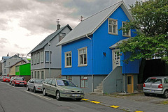 A colored home in Reykjavik