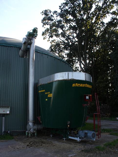 Versorgungeinheit der Biogasanlage