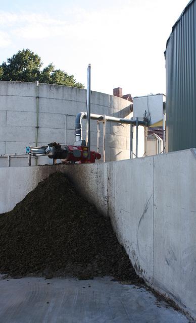 Die Reststoffe einer Biogasanlage
