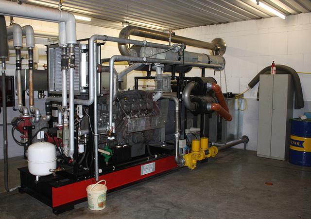 Im Maschinenraum einer Biogasanlage