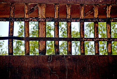 Behind bars.....
