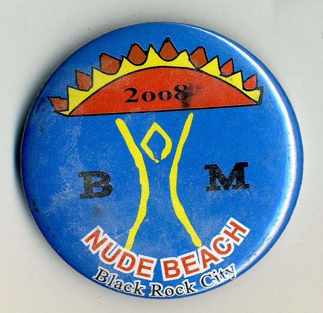 Black Rock City Nude Beach Button