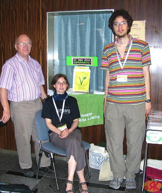 2008-07-31 03 Eo-tablo ĉe 38-a monda kongreso de vegetaranoj en Dresdeno
