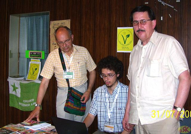 2008-07-31 05 Eo-tablo ĉe 38-a monda kongreso de vegetaranoj en Dresdeno