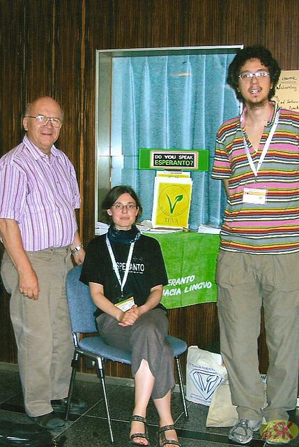 2008-07-31 06 Eo-tablo ĉe 38-a monda kongreso de vegetaranoj en Dresdeno