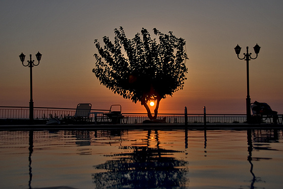 Sunset at the pool......