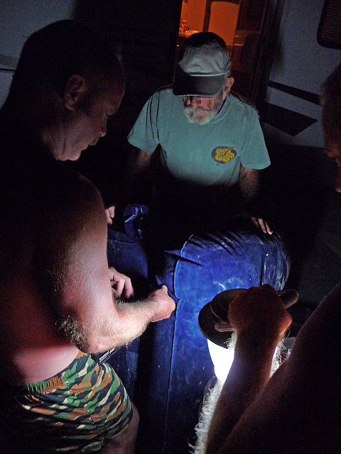 How Many Gay Men Does It Take To Blow Up An Inflatable Chair In The Dark (0571)