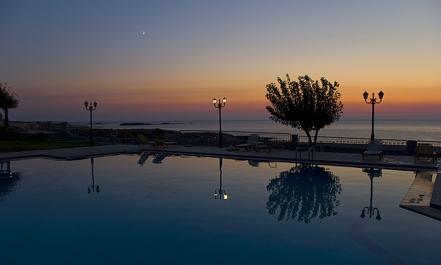 After sunset pool........