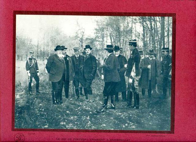 le roi du Portugal chassant à Rambouillet 1910