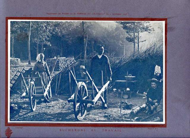 bucherons au travail 1907