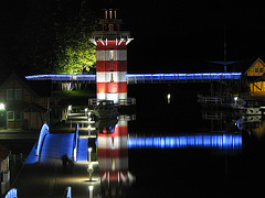 Beleuchteter Turm