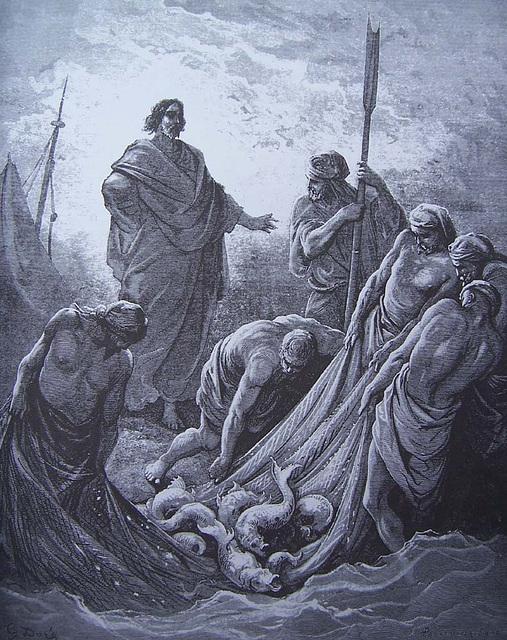 La Pêche miraculeuse, gravure de Gustave Doré
