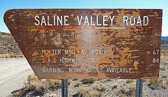Saline Valley Road Sign (1669)