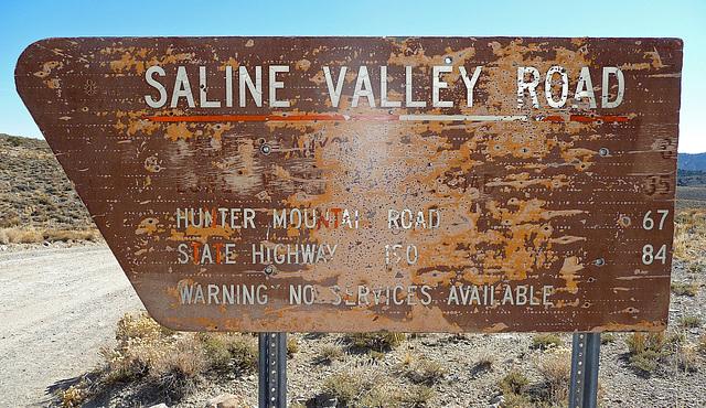 Saline Valley Road Sign (1669)