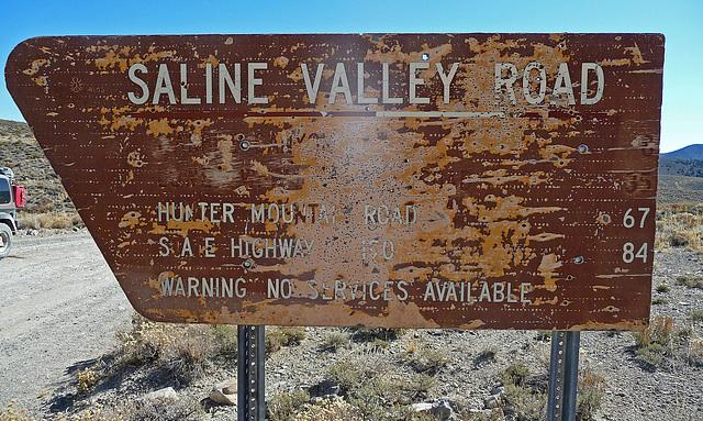 Saline Valley Road Sign (1671)