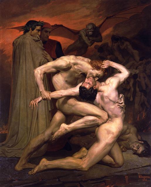 Dante et Virgile visitent l'enfer