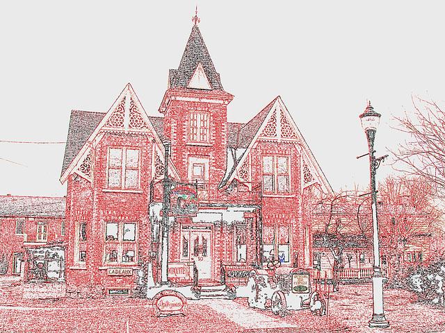 Antiquités / Antiques -  Ormstown  - Québec, Canada.   29 mars 2009 - Contours de couleurs
