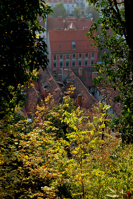 Graz - Outlook from Schlossberg