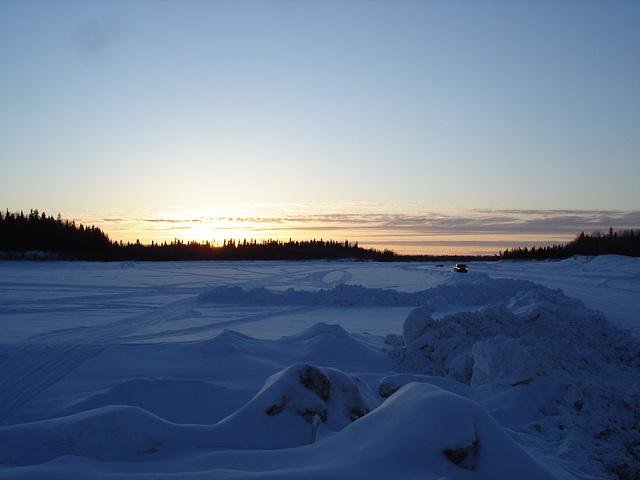 Northern sunset / Coucher de soleil nordique