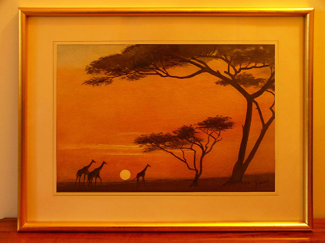 PICT3757ac Kenya Savannah Sunset