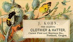 J. Kohn, the Leading Clothier and Hatter, Portland, Oregon