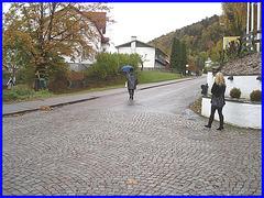 Dame mature en Bottes de cuir à talons  marteau / Mature Swedish Lady in hammer heeled Boots- Enehall pensionat - Båstad  - Suède / Sweden