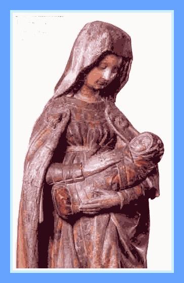 Vierge d'Autun, dite Vierge Bulliot, de Claus de Werve, XVe s.
