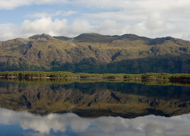 Reflections across Loch Maree