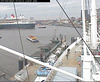 "The QM2 seen from the webcam of the ship ""Cap San Diego"", Hamburg, Germany, entering the shipyard / QM2-07"