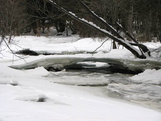Ice bridge