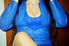My friend Lady Roxy with full permission / Mon Amie Roxy avec sa permission - Blue dream  /  Rêve en bleu