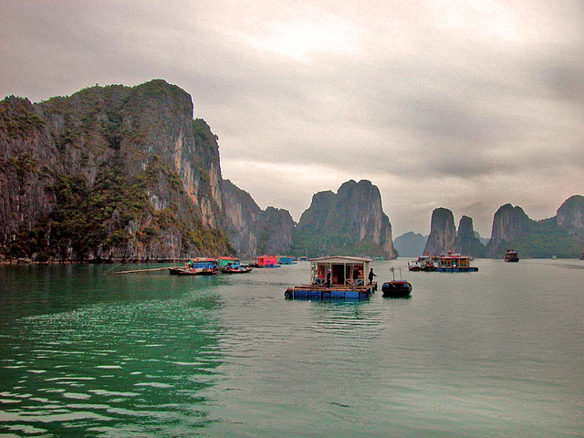 The lime stones at Hạ Long Bay