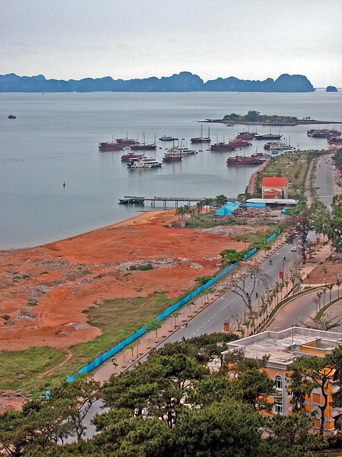 View to the Hong Gai Port
