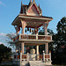 The bell tower and the drum in Phra That Satcha