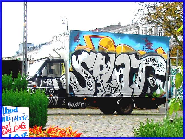 Terrible Splat 17-  Camion joyeux- Joyous truck- Copenhague- 20 octobre 2008.