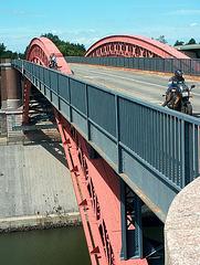 Nord-Ostsee-Kanal bei Kiel / Kiel-Canal, Germany - Levensauer Hochbrücke