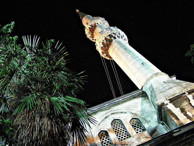 Minaret by night