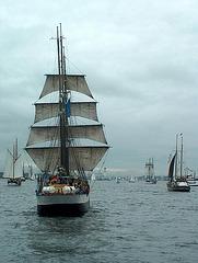 Schiffsparade zur Kieler Woche 2005